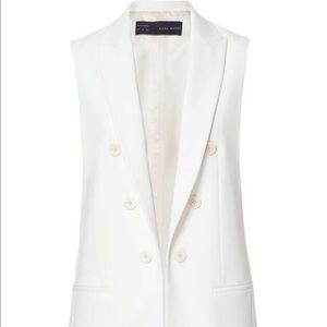 Zara tailored white long vest